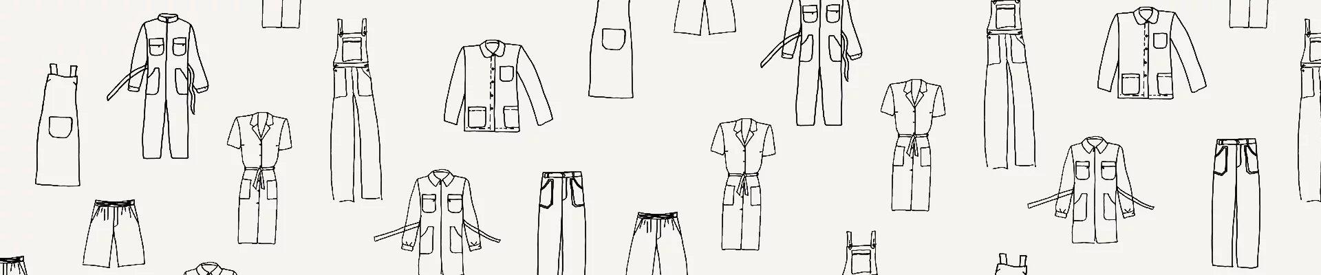 vêtements de travail agnès b.