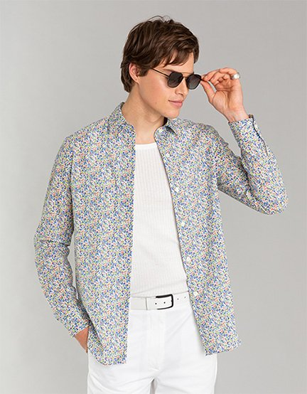 chemise à fleurs agnès b. homme