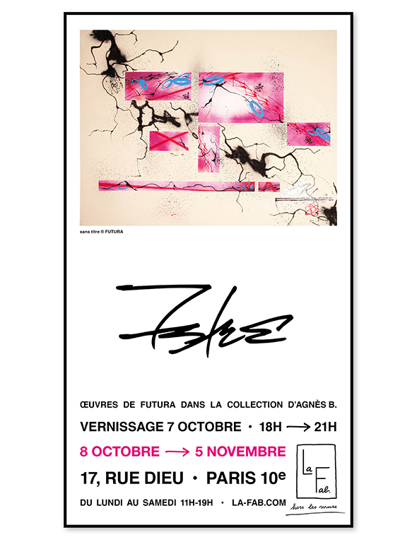Exposition Futura dans la collection agnès b.