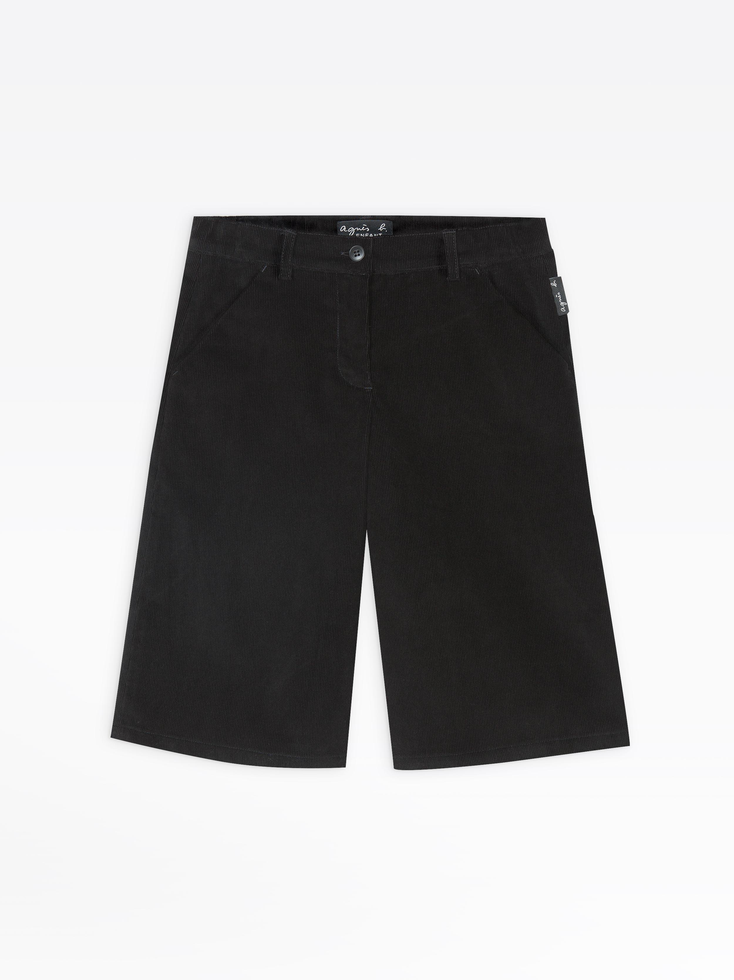 Black Velvet Pants Skirt