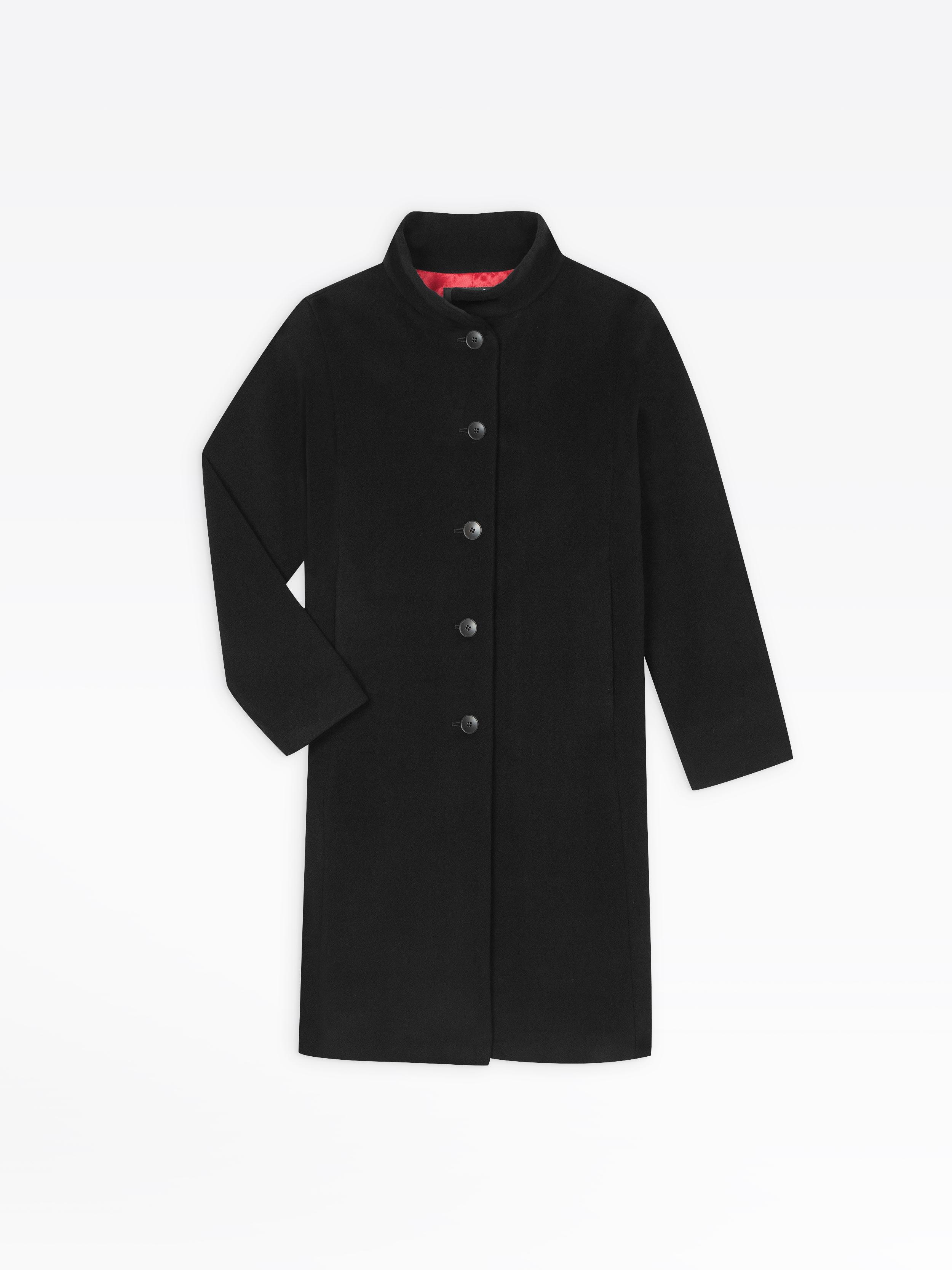 1a673560a black wool lincoln coat