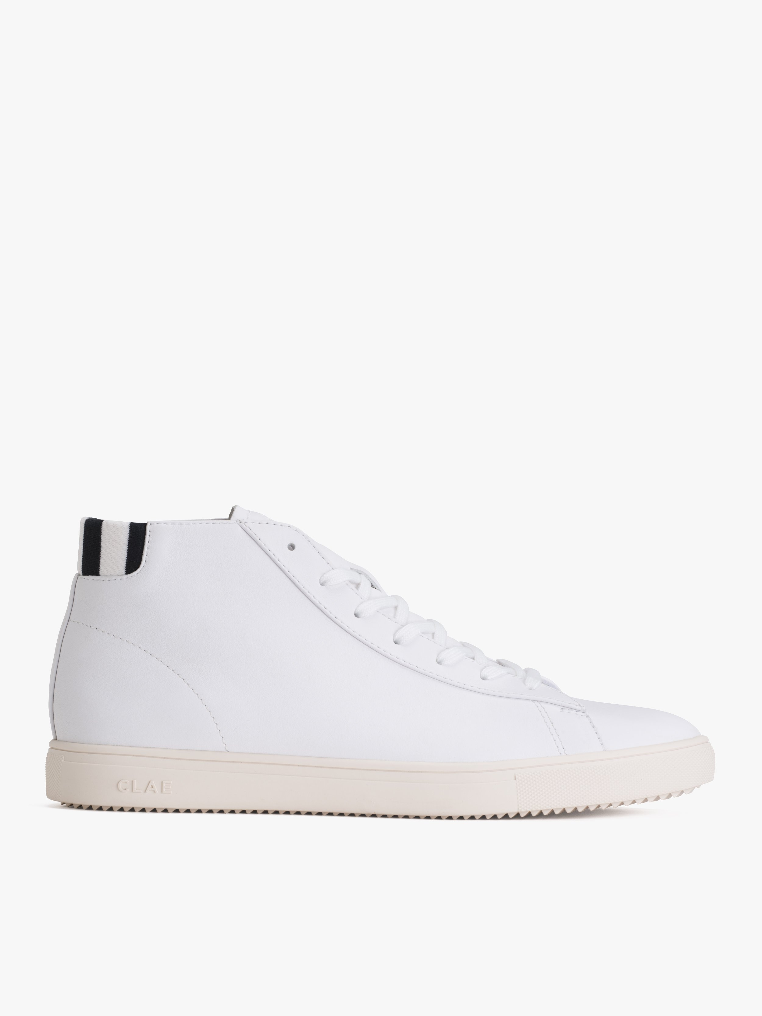 white Clae high-top sneakers