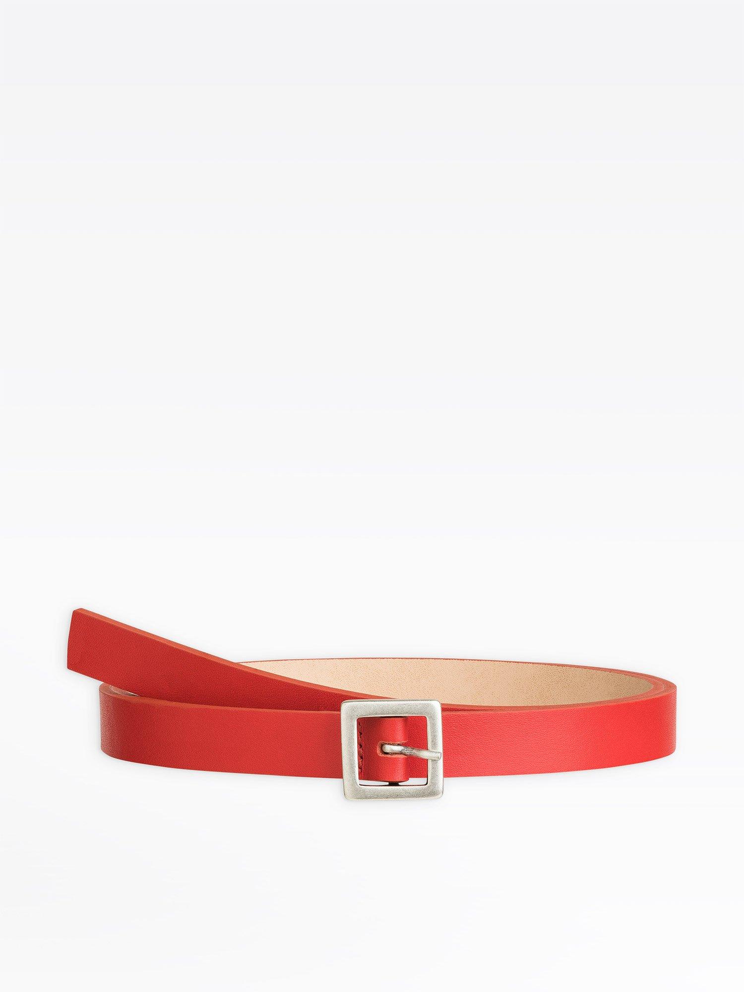 f35621bf4a1ad ceinture cathia rouge en cuir | agnès b.