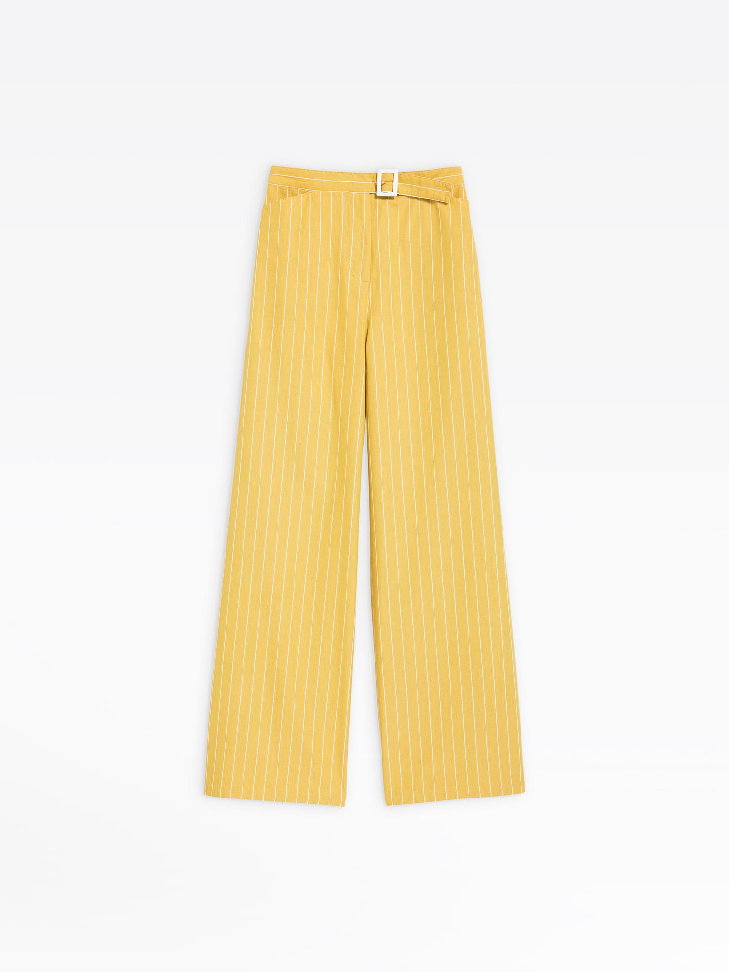 new & pre-owned designer latest style of 2019 popular brand yellow striped ylenia wide-leg trousers