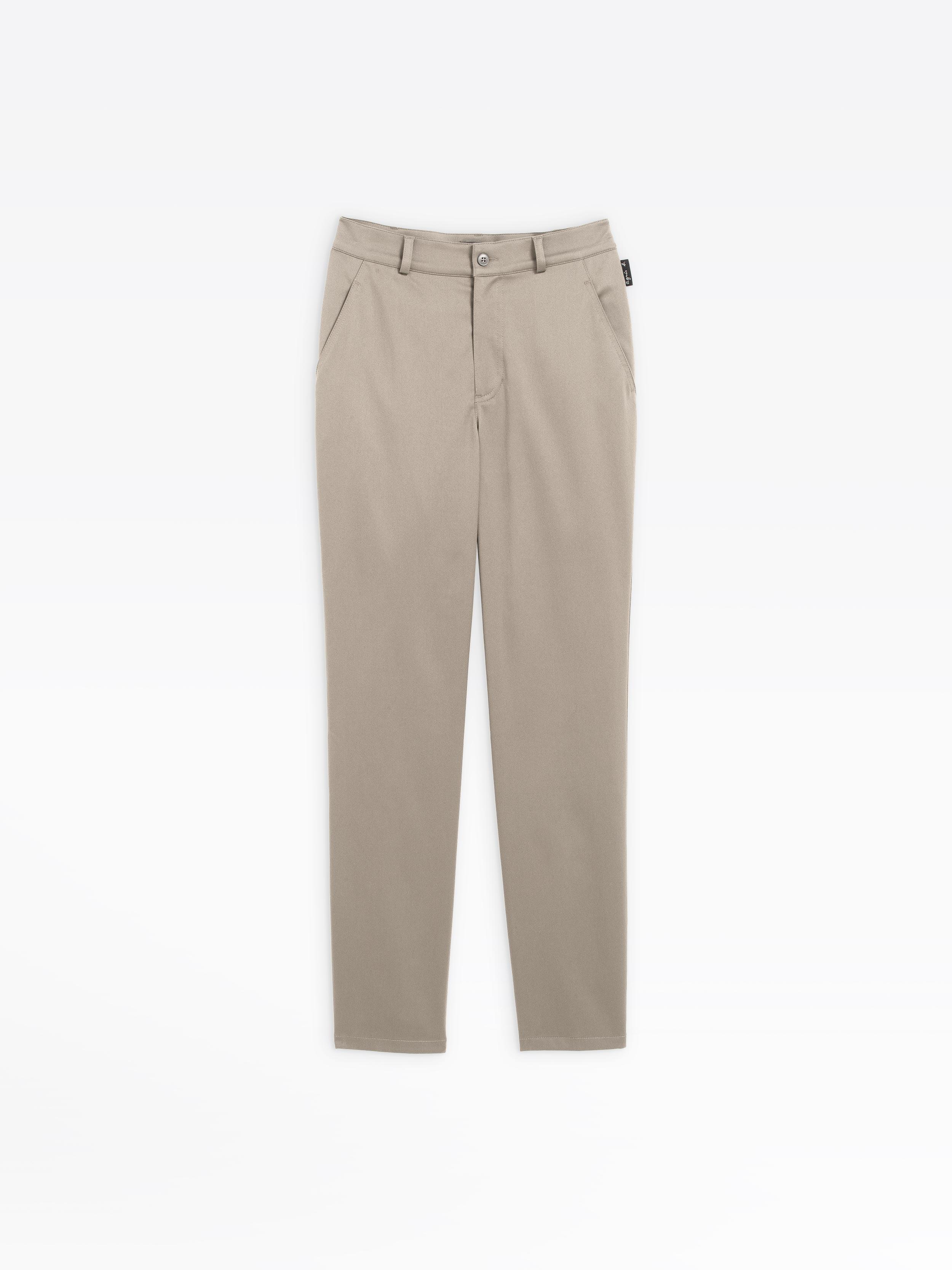Beige Coton Pantalon En Marilyn Stretch vnwN0Om8