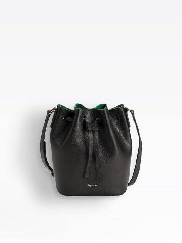 1a3891c598 black small leather bucket bag